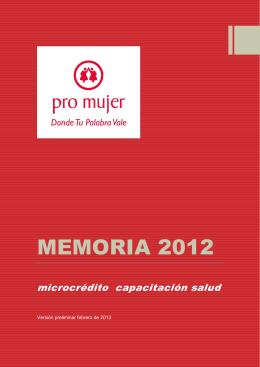 Pro Mujer BOL – Memoria 2012