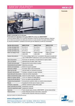 MKW_Type_ES.qxd - MKW Graphische Maschinen GmbH