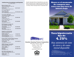 4.75% - Houston Housing Finance Corporation