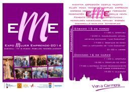 folleto programación EME 2014-SIN VISITAS.pub