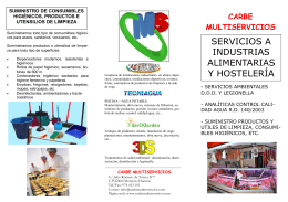 folleto industria alimentaria