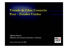 Tratado de Libre Comercio Perú – Estados Unidos