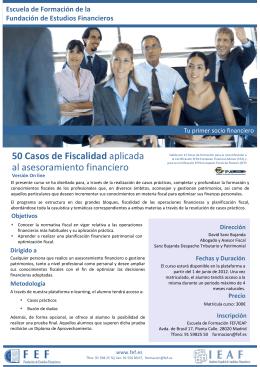 50 Casos de Fiscalidad aplicada al asesoramiento financiero