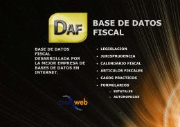 Base de Datos Fiscal