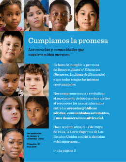 Cumplamos la promesa - Schools & Communities United