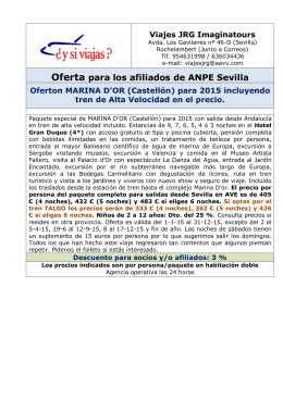Oferta para los afiliados de ANPE Sevilla Oferton