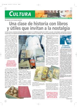 Una clase de historia con libros y útiles que invitan a la nostalgia