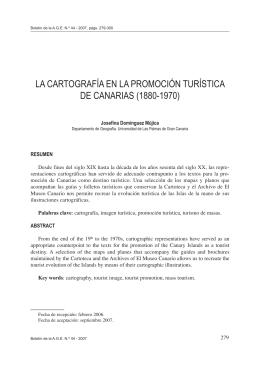 La cartografía en la promoción turística de Canarias (1880