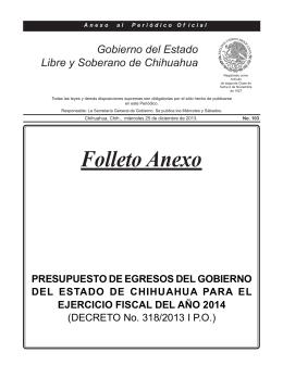 PRESUPUESTO BASADO EN RESULTADOS (PbR) 2014