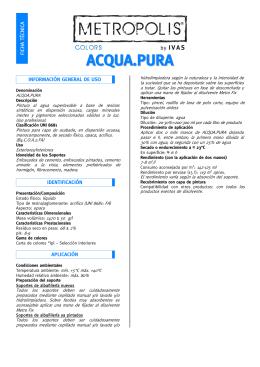 Ficha técnica ACQUA.PURA