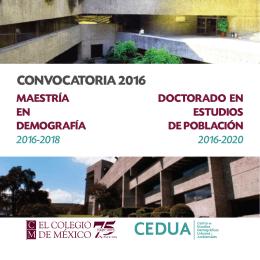 Maestría en Demografía y Doctorado en Estudios de Población