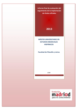 UAM M.U en Estudios Medievales Hispánicos