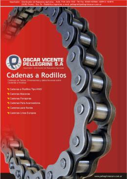 Catálogo Técnico de Cadenas a Rodillos