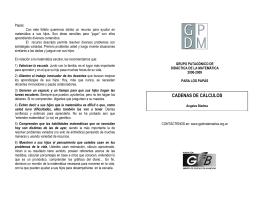 CADENAS DE CÁLCULOS - Grupo Patagónico de Didáctica de la