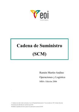 Cadena de Suministro (SCM)