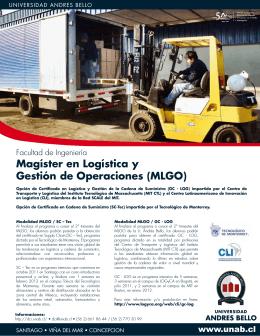 Magíster en Logística y Gestión de Operaciones (MLGO)