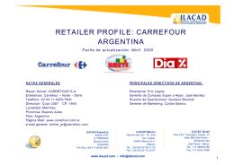 retailer profile: carrefour argentina