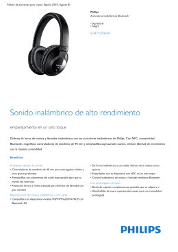Auriculares Bluetooth inalámbricos supraaurales negros