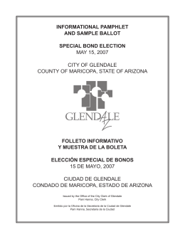 informational pamphlet and sample ballot special