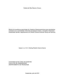 metodología sugerida para el docente para la enseñanza de unidad 1