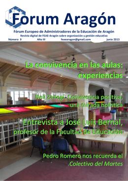 La convivencia en las aulas: experiencias Entrevista a José Luis