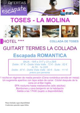 TOSES - LA MOLINA