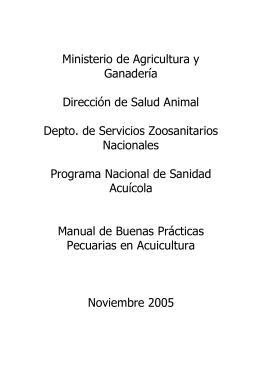 Manual de Buenas Prácticas Pecuarias en Acuicultura