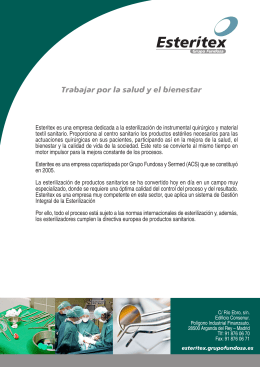 Folleto corporativo de Esteritex (Grupo Fundosa)