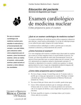 Examen cardiológico de medicina nuclear - UWMC Health On-Line