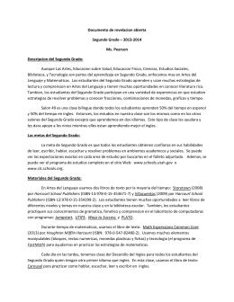 Documento de revelacion abierta Segundo Grado