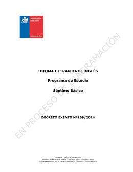 INGLÉS Programa de Estudio Séptimo Básico