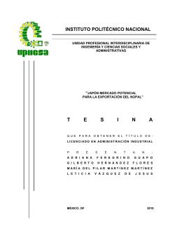 T E S I N A - Instituto Politécnico Nacional
