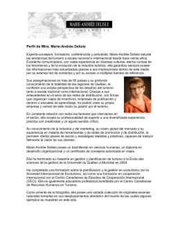 Perfil de Mtra. Marie-Andrée Delisle
