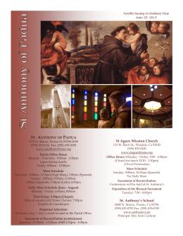 6/23/13 - St. Anthony of Padua Catholic Church