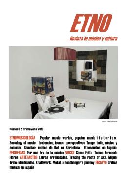 Documento relacionado ETNO. Revista de música y cultura. Nº 2