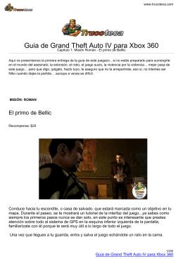 Guia de Grand Theft Auto IV para Xbox 360