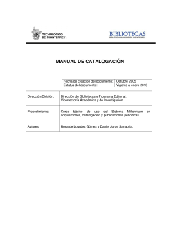 MANUAL DE CATALOGACIÓN - Biblioteca digital del Tecnológico