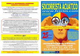 curso de socorrista acuático - Federación de Salvamento y