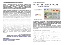 patentes de software - Campanya contra les patents de programari