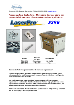 Folleto descriptivo de la LaserPro S290