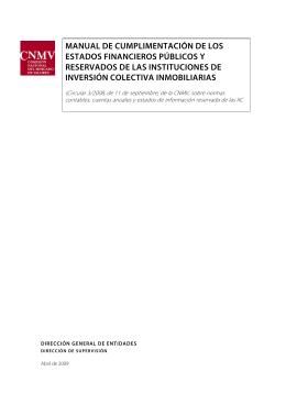 Manual de cumplimentación de IIC inmobiliarias