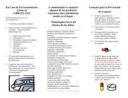 Spanish poison prevention brochure