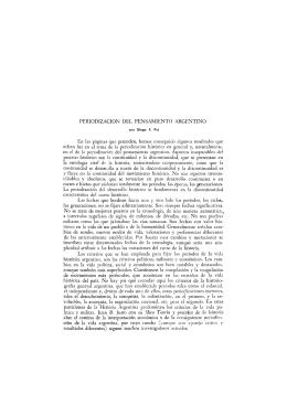 PERIODIZACION DEL PENSAMIENTO ARGENTINO En las páginas