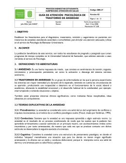 TABLA DE CONTENIDO - Universidad Industrial de Santander