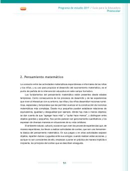 2. Pensamiento matemático