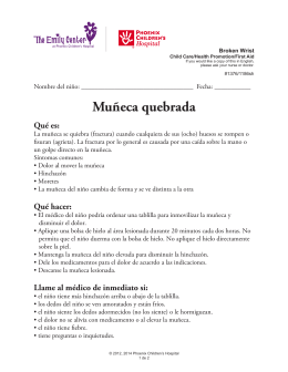 Muñeca quebrada - Phoenix Children`s Hospital