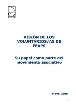II Encuentro de Voluntariado de FEAPS. Ponencia marco.