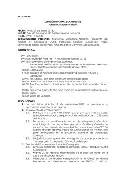 ACTA Nro 20 COMISIÓN NACIONAL DE CATEQUESIS JORNADA