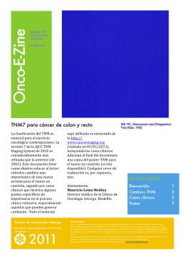 TNM7 – Colon y recto - Oncología Clínica / Hematología
