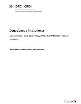 Donaciones a institutiones Directrices del IDRC para la Preparación
